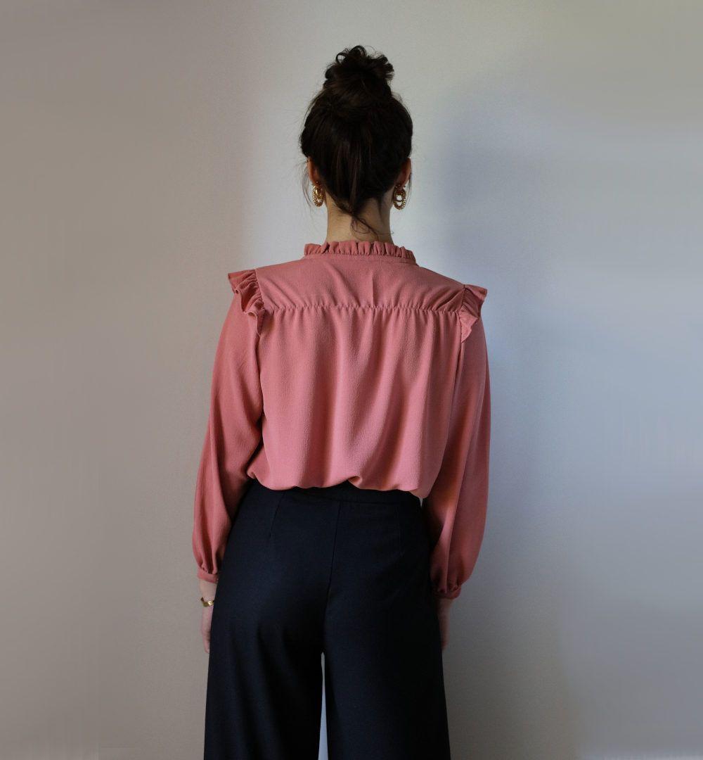 blouse noelie de clematisse de dos
