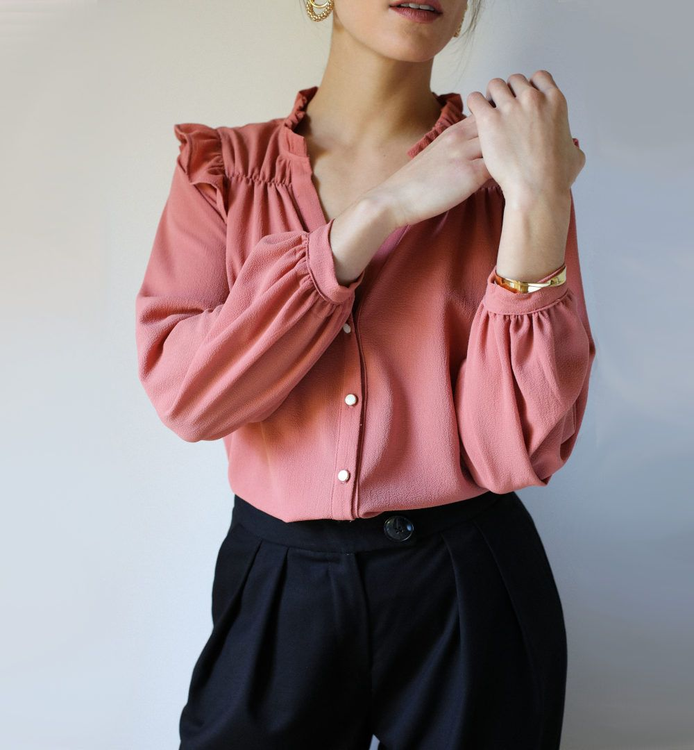 chemise noelie de clematisse en rose