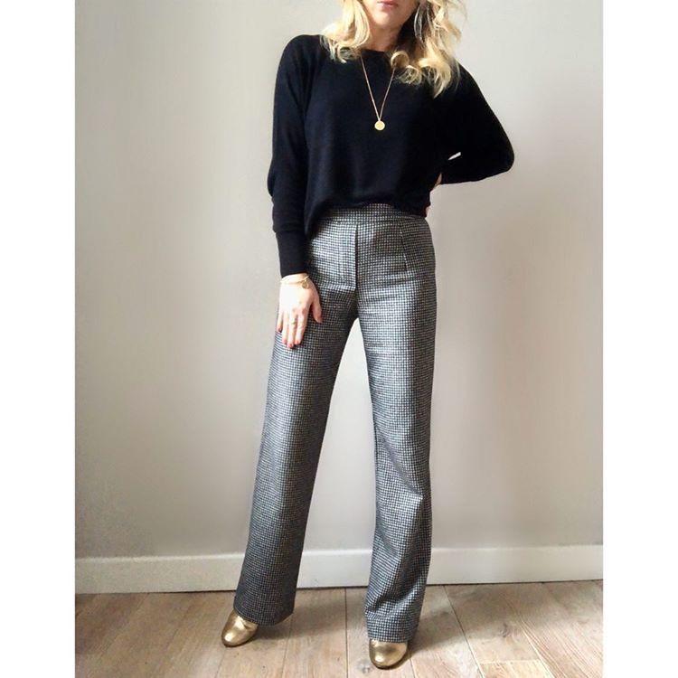patron couture pantalon droit femme miky