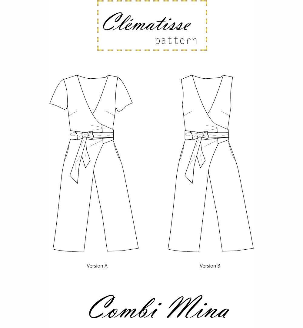 dessin technique de la combinaison pantalon mina