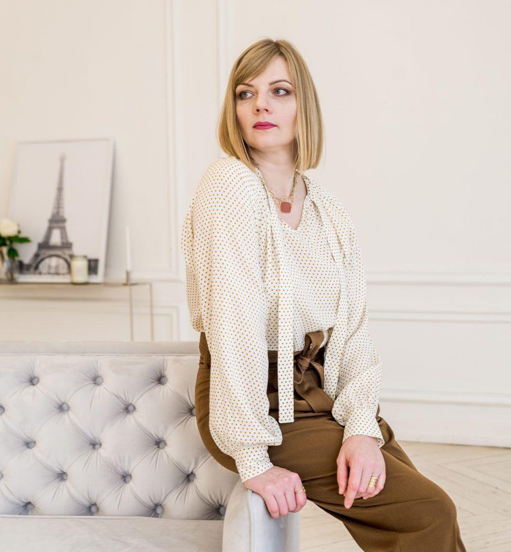 blouse vlada blanche vue de coté