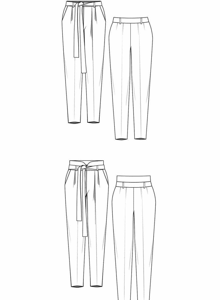 patron couture lenaline pantalon viktor dessin technique