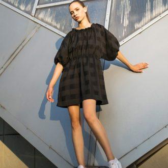 patron couture lenaline robe dasha simple noire