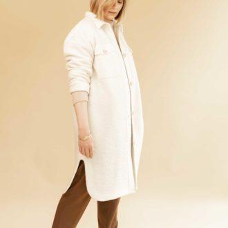 Patron couture lenaline robe manteau diana blanche