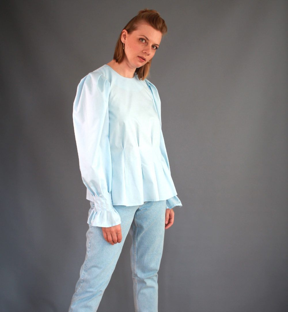 blouse tasha manches ballons de lenaline
