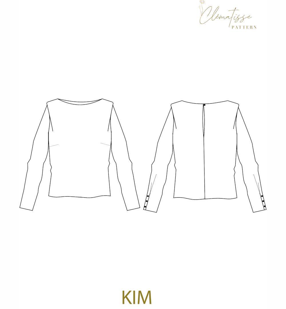 dessin technique blouse kim de clématisse