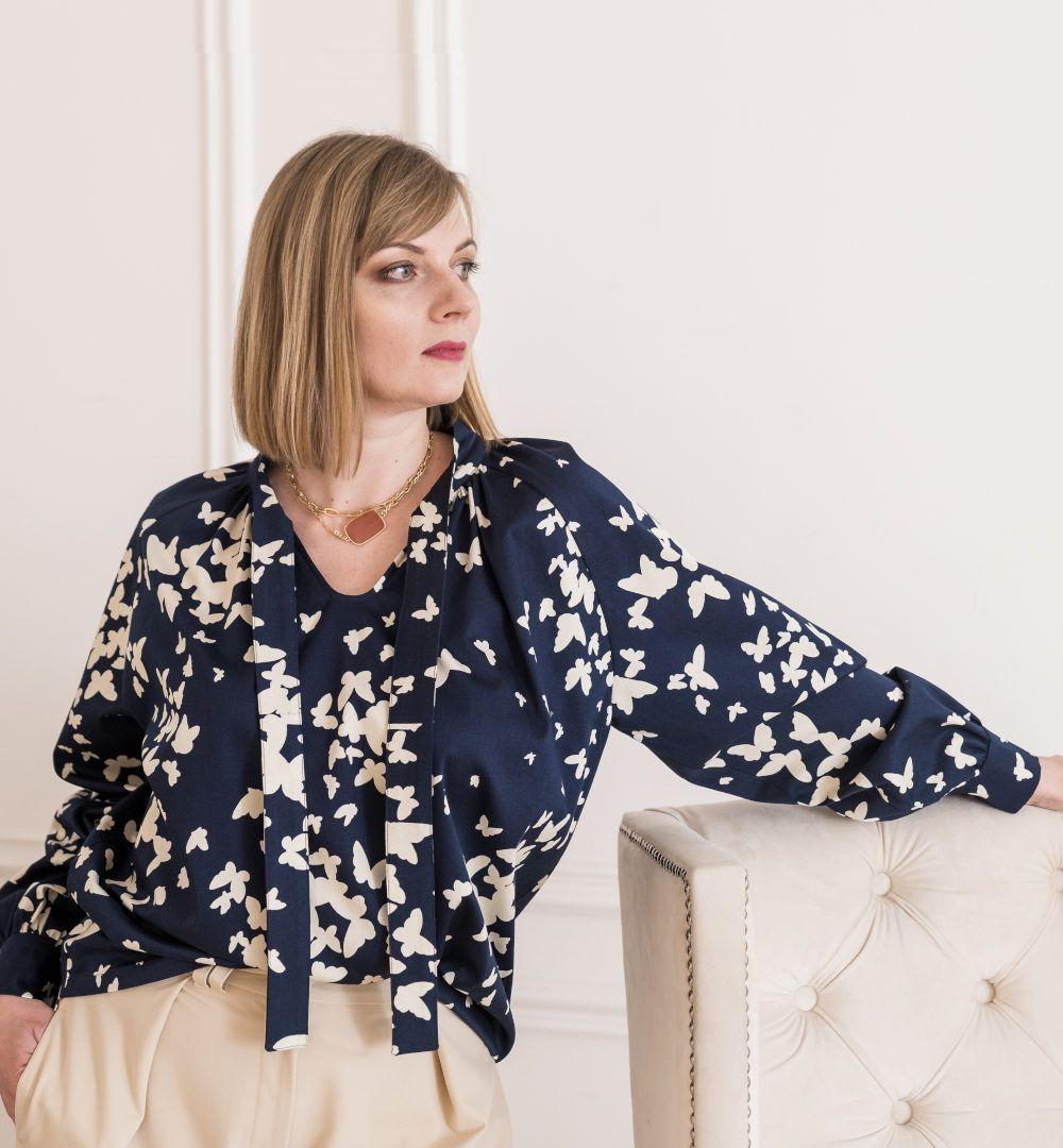 patron couture blouse paysanne vlada