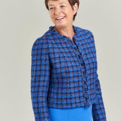 patron couture veste chanel tweed bleu