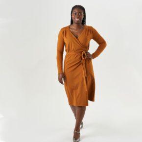 robe portefeuille en jersey
