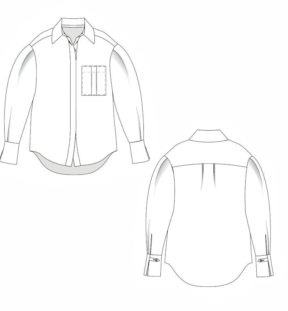 dessin technique chemise misha de lenaline patterns