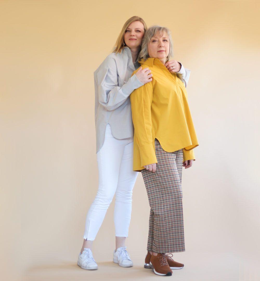 chemise oversized en blanc ou jaune