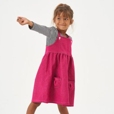 petite fille dan robe chasuble willow rose