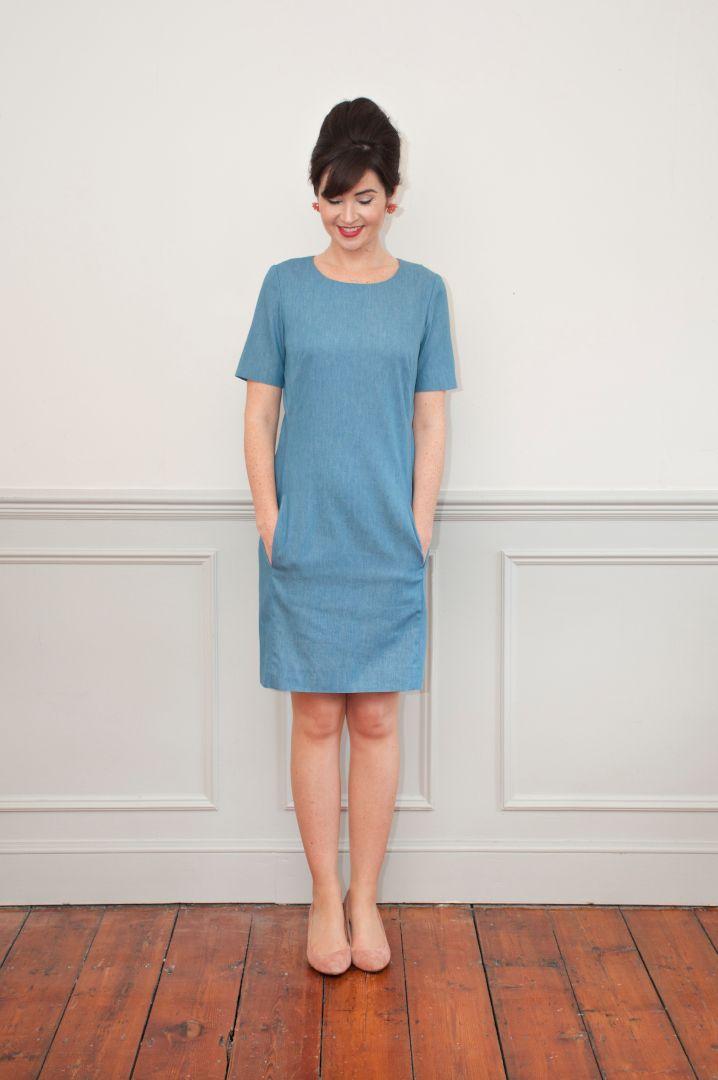 robe droite zoé en bleu
