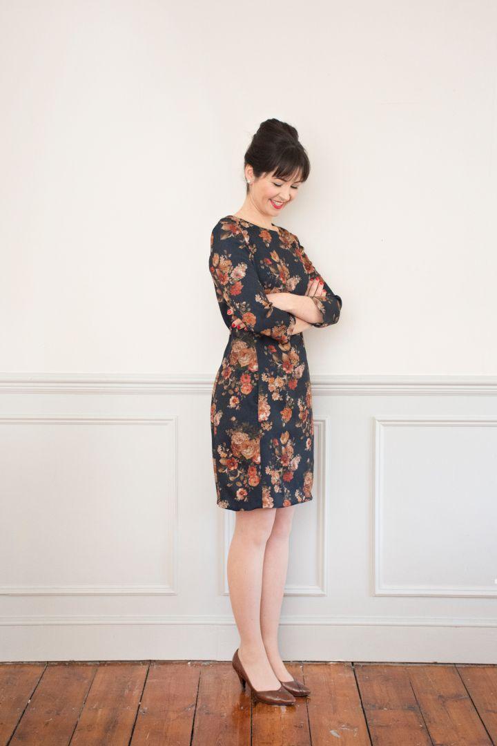 patron robe zoé bleu imprimés fleuris